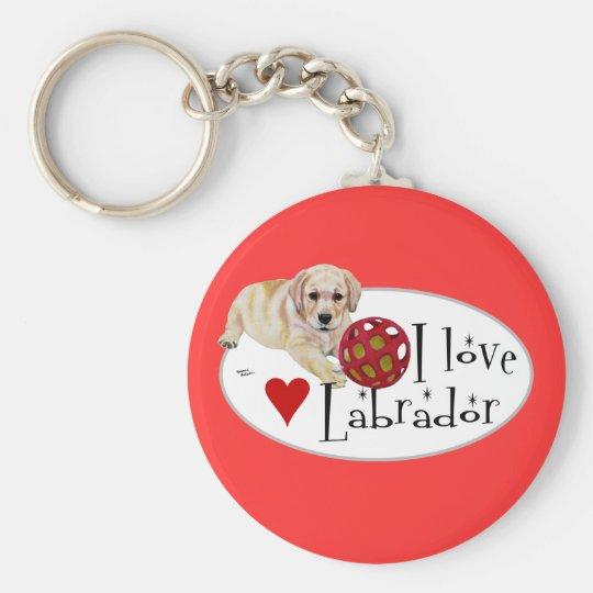 Yellow Labrador Puppy Keychain