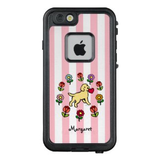 Yellow Labrador Puppy Little Heart iPhone Case