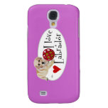 Yellow Labrador Puppy Painting Samsung Galaxy S4 Cover