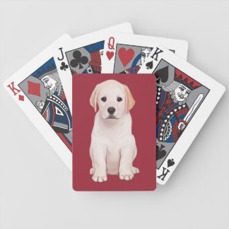 Yellow Labrador Puppy Bicycle Playing Cards