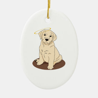 Yellow Labrador Retriever Angel Ceramic Ornament