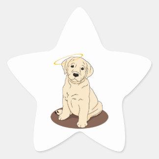 Yellow Labrador Retriever Angel Star Sticker