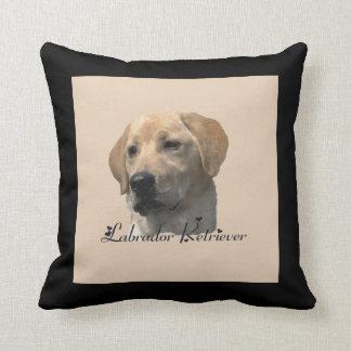 Yellow Labrador Retriever Art Gifts Throw Pillow
