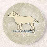 Yellow Labrador Retriever Beverage Coasters