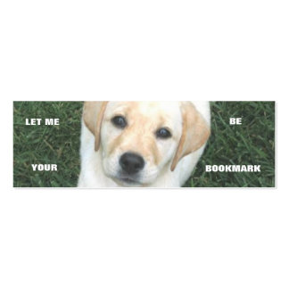 Yellow Labrador Retriever Bookmark Business Cards