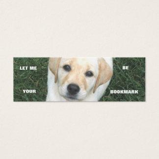 Yellow Labrador Retriever Bookmark Mini Business Card
