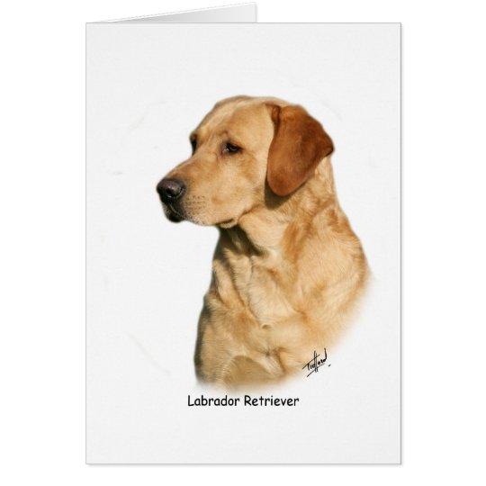 Yellow Labrador Retriever Card