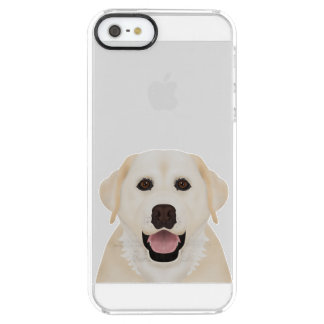 yellow labrador retriever cartoon clear iPhone SE/5/5s case