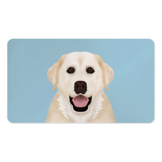 yellow labrador retriever cartoon Double-Sided standard business cards (Pack of 100)