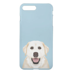 Uncommon iPhone 7 Plus Clearly™ Deflector Case with Golden Retriever Phone Cases design