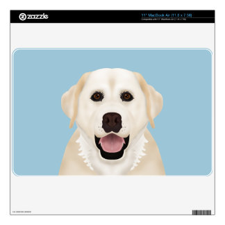 yellow labrador retriever cartoon MacBook skins