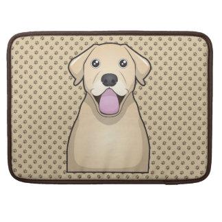 Yellow Labrador Retriever Cartoon MacBook Pro Sleeve