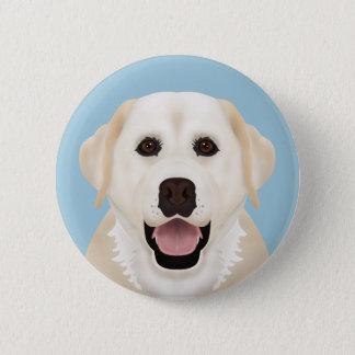 yellow labrador retriever cartoon pinback button