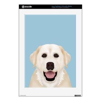 yellow labrador retriever cartoon skin for PS3