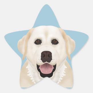 yellow labrador retriever cartoon star sticker