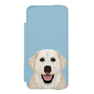 yellow labrador retriever cartoon wallet case for iPhone SE/5/5s