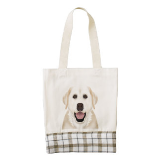 yellow labrador retriever cartoon zazzle HEART tote bag