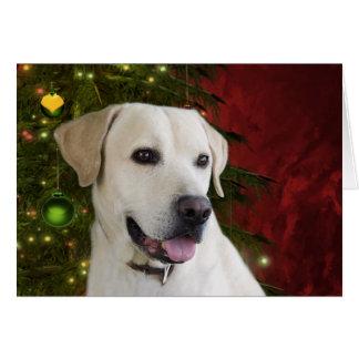 Yellow labrador retriever Christmas Cards