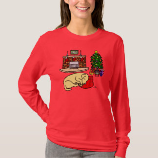 Yellow Labrador Retriever Christmas Shirts