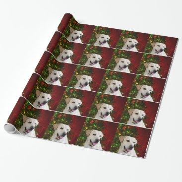 Christmas Themed Yellow labrador retriever Christmas Wrapping Paper