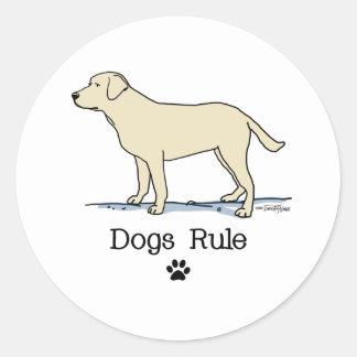 Yellow Labrador Retriever Classic Round Sticker