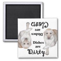 Yellow Labrador Retriever Dishwasher Magnet