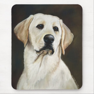 Yellow Labrador Retriever Dog Art Mouse Pad