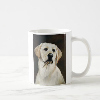 Yellow Labrador Retriever Dog Art Mug