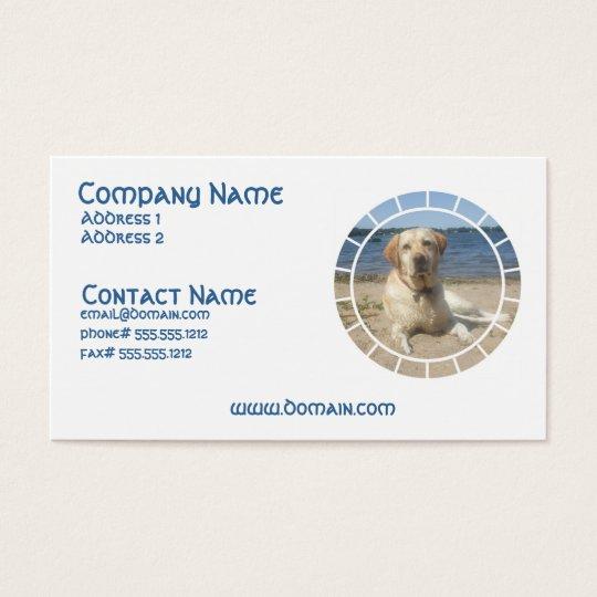 Yellow Labrador Retriever Dog Business Card