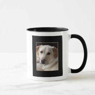 Yellow Labrador Retriever Dog on Ceramic Mug