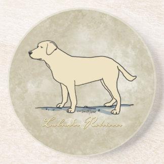 Yellow Labrador Retriever Drink Coaster