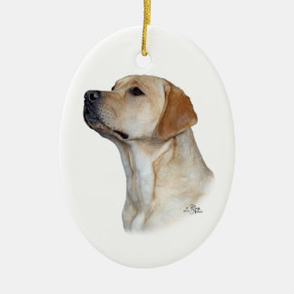 Yellow Labrador Retriever head ornament