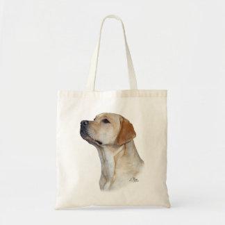 Yellow Labrador Retriever head tote bag