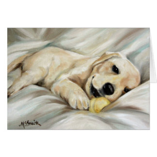 Yellow Labrador Retriever Labs Greeting Card