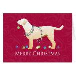 Yellow Labrador Retriever Merry Christmas Design Card