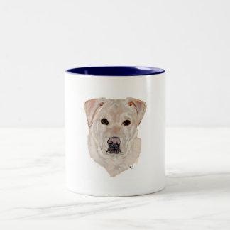 Yellow Labrador Retriever Two-Tone Coffee Mug