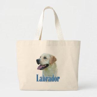 Yellow Labrador Retriever Name Tote Bags