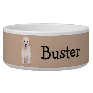 Yellow Labrador Retriever  Name Customizable Bowl