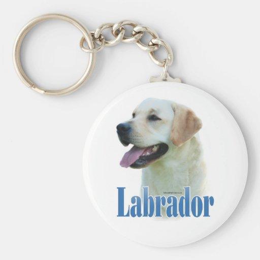 Yellow Labrador Retriever Name Keychain
