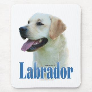 Yellow Labrador Retriever Name Mouse Pad