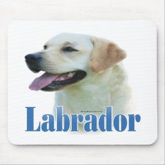 Yellow Labrador Retriever Name Mouse Mat