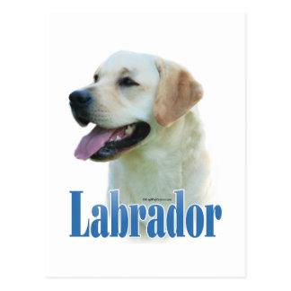 Yellow Labrador Retriever Name Postcard