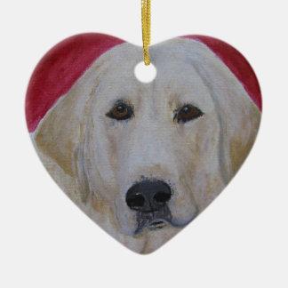 Yellow Labrador Retriever Painting, Ornament