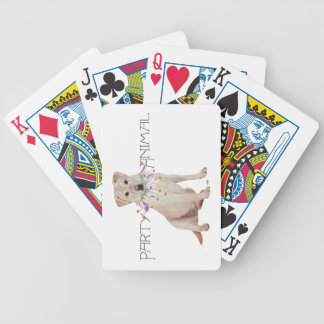 Yellow Labrador Retriever Party Bicycle Playing Cards
