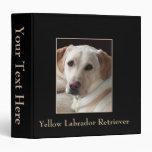 "Yellow Labrador Retriever Photo on 2"" Binder"