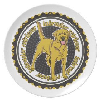 Yellow Labrador Retriever Plates