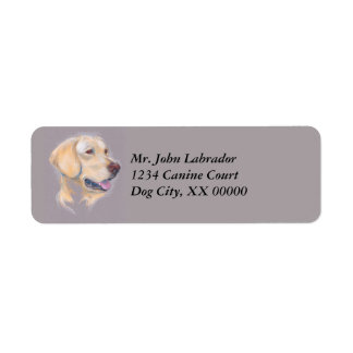 Yellow Labrador Retriever Portrait Label