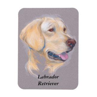 Yellow Labrador Retriever Portrait Magnet