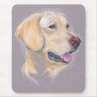 Yellow Labrador Retriever Portrait Mouse Pad