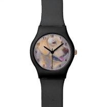 Yellow Labrador Retriever Portrait Wrist Watch